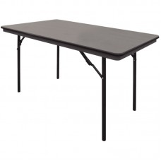 Bolero GC594: ABS Folding Banquet Rectangular Table 4ft