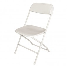 Bolero GD387: Folding Chair White (Pack of 10)