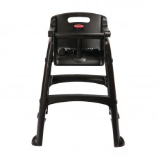 Rubbermaid GG477: Sturdy Black High Chair