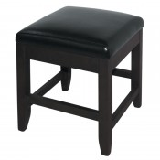 Bolero GG646: Bolero Faux Leather Low Bar Stools Black (Pack of 2)