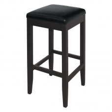 Bolero GG648: Faux Leather High Bar Stools Black (Pack of 2)