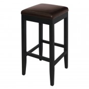 Bolero GG649: Faux Leather High Bar Stools Dark Brown (Pack of 2)