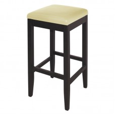 Bolero GG650: Faux Leather High Bar Stools Cream (Pack of 2)