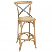 Bolero GG657: Wooden Barstool with Backrest
