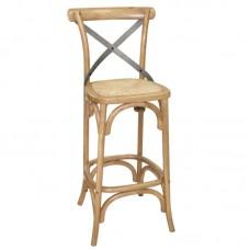 Bolero GG657: Wooden Barstool with Backrest