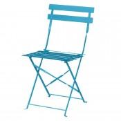 Bolero GK982: Pavement Style Steel Chairs Seaside Blue (Pack of 2)