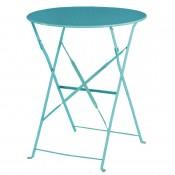 Bolero GK983: Seaside Blue Pavement Style Steel Table