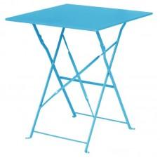 Bolero GK985: Seaside Blue Pavement Style Steel Table Square