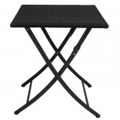 Bolero GL302: PE Wicker Folding Table Square 600mm