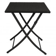 Bolero GL302: PE Wicker Folding Table Square 600mm
