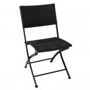 Bolero GL303: PE Wicker Folding Chairs (Pack of 2)