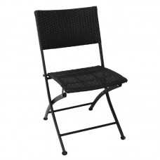 Bolero GL303: PE Wicker Folding Chairs (Pack of 2)