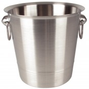 Olympia K406: Wine Bucket - Brushed Stainless Steel