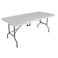 Bolero L001: Centre Folding Utility Table White 6ft (1.8m)