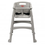 Rubbermaid M959: Sturdy Stacking High Chair Platinum