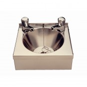 Vogue P088 Hand-Wash-Sink: 304 grade steel hand wash sink complete with plug and chain, apron support and waste. (Taps not included)