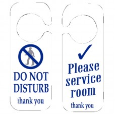 Code W346: Do Not Disturb & Please Service Room Sign
