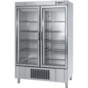 Infrico AN1002BTCR:  Stainless Steel Glass Door Freezer with LED Lighting - 1110Ltr