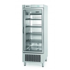 Infrico AN501BTCR:  Stainless Steel Glass Door Freezer with LED Lighting - 500Ltr