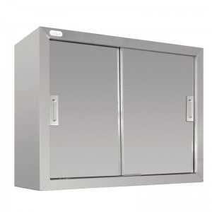 Vogue CE150: 0.9m Large capacity stainless steel cupboard with sliding doors