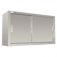 Vogue DL450: Large capacity stainless steel cupboards with sliding doors