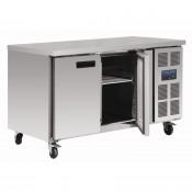 Polar G599: 2 Door Steel Freezer Food Preparation Counter Freezer with side mounted condenser