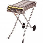 Buffalo P111: Folding Propane Gas Barbecue on Wheels