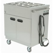Parry 1887: Mobile Hot Food Cupboard with Bain Marie Top