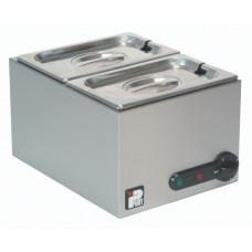 Parry GBM2W: 2 x 1/4 GN Electric Wet Well Gastronorm Bain Marie