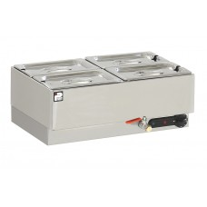 Parry GBM4W: 4 x 1/4 GN Electric Wet Well Gastronorm Bain Marie