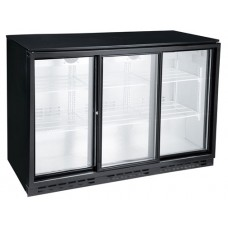 FL-BB3SL: Triple Sliding Door Back Bar Chiller With Low Energy LED Lighting