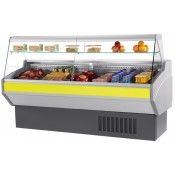 Mafirol Atena 1000FE-TVPR: 1m Slimline Flat Glass Delicatessen Serve Over Display with Understorage & Static Cooling - Only 800mm Deep