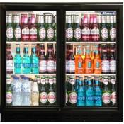 Blizzard BAR2SL: Sliding Double Door Back Bar Beer Chiller - ECA Approved