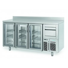 Infrico FMPP2000CR-09: 3 Glass Door Tall Back Bar Cooler Counter with LED Lighting - 510ltr