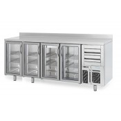 Infrico FMPP2500CR-09: 4 Glass Door Tall Back Bar Cooler Counter with LED Lighting - 695ltr