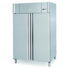 Infrico AGB1402PESC: Stainless Steel Gastronorm Double Door Fish Fridge with LED Lighting - 40 Stone