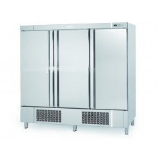 Infrico AN1603TF: 3 Door Stainless Steel Under Mounted Fridge with LED Lighting - 1730Ltr