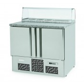 Infrico ME1000PIZZA: Stainless Steel Refrigerated Gastronorm Counter - 230Ltr