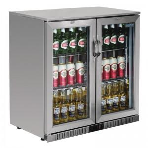 POLAR GL008: 208Ltr Hinged Door Back Bar Beer Cooler with LED Lighting & 2 YEAR FULL WARRANTY