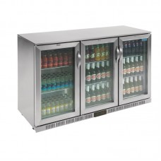 POLAR GL009: 330Ltr Hinged Door Back Bar Beer Cooler with LED Lighting & 2 YEAR FULL WARRANTY