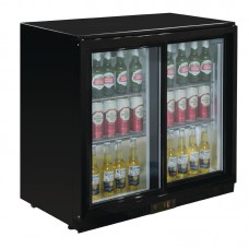 POLAR GL010: 198Ltr Sliding Door Back Bar Beer Cooler 850mm with LED Lighting & 2 YEAR FULL WARRANTY