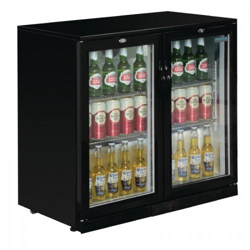 polar gl012  198ltr hinged door back bar beer cooler 850mm