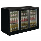 POLAR GL013: 320Ltr Sliding Door Back Bar Beer Cooler 850mm High with LED Lighting & 2 YEAR FULL WARRANTY