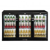 POLAR GL014: 320Ltr Hinged Door Back Bar Beer Cooler 850mm High with LED Lighting & 2 YEAR FULL WARRANTY