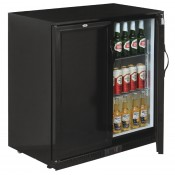 POLAR GL016: 208Ltr Solid Door Back Bar Beer Cooler with LED Lighting & 2 YEAR FULL WARRANTY