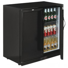 POLAR GL016: 208Ltr Solid Door Back Bar Beer Cooler with LED Lighting & 2 YEAR FULL WARRANTY