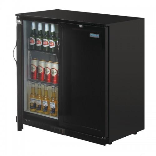 Polar Gl016 208ltr Solid Door Back Bar Beer Cooler With
