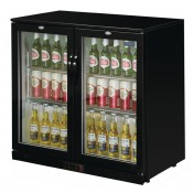 POLAR GL002: 208Ltr Hinged Door Back Bar Beer Cooler 900mm High with LED Lighting & 2 YEAR FULL WARRANTY