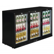 POLAR GL004: 330Ltr Hinged Door Back Bar Beer Cooler 900mm High with LED Lighting & 2 YEAR FULL WARRANTY