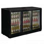 POLAR GL006: 330Ltr Sliding Door Back Bar Beer Cooler 900mm High with LED Lighting & 2 YEAR FULL WARRANTY